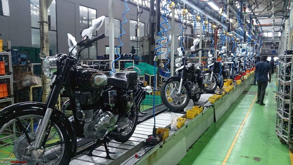 Bikes manufactured at Royal Enfield plant